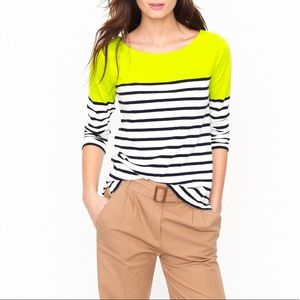 J.Crew colorblock striped knit tee, XS
